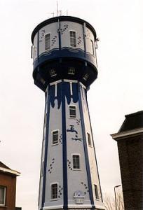 watertoren in Landen