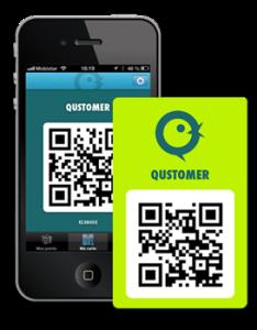 uw Qustomer kaart, ook als app