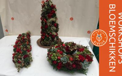 Genieten in november met je eigen bloemstuk uit de workshop van bloemen Blavier